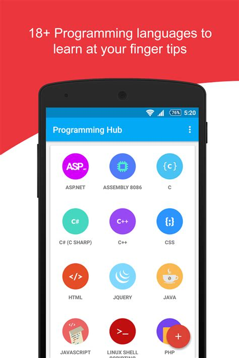 programming apps for android programming hub learn to code android apps on play