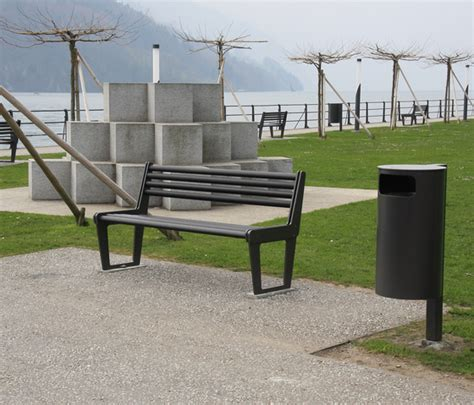 bench city city bench type v with backrest exterior benches from burri architonic