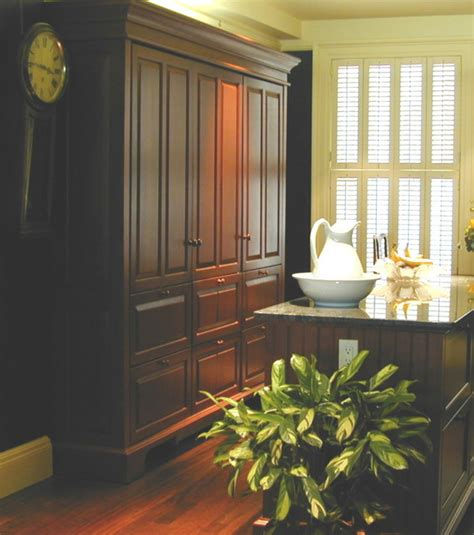 Armoire In Kitchen by Concealed Refrigerator Freezer Pantry Armoire