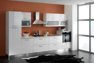 fantastic kitchen interior saturated orange color decosee com