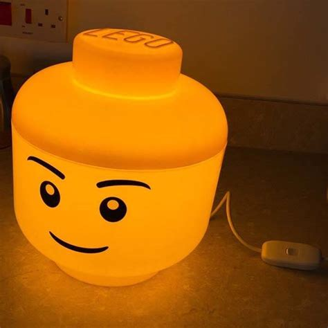 the cute led mood light built with lego storage container