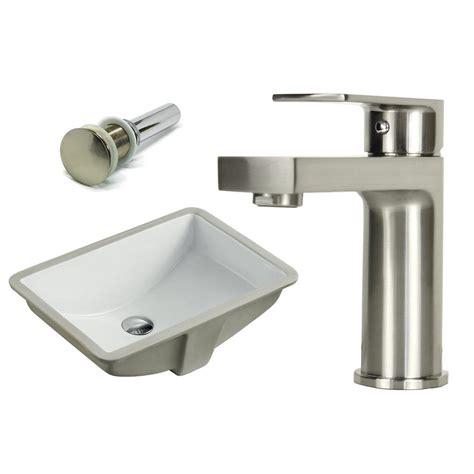 Ceramic Undermount Sink by Kingsman Hardware 21 1 2 In Rectangle Undermount Vitreous