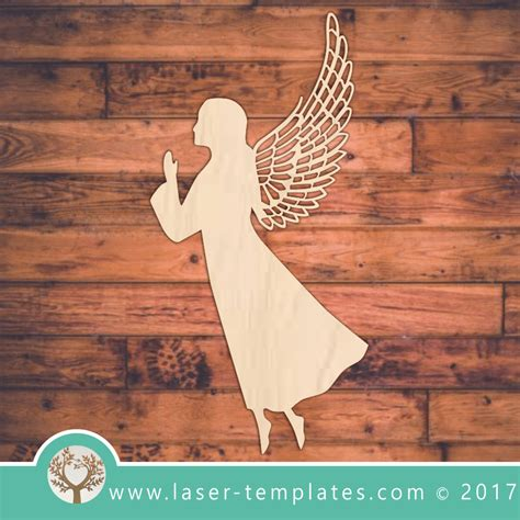 Angel With Wings Laser Cutting Design Template Laser Ready Templates Laser Ready Templates
