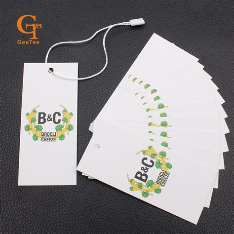 garment swing tags custom logo paper price tags customized paper hang tag