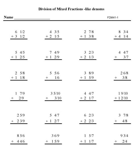 Math Worksheets High School by 18 Best Images Of Division Worksheets For Middle School