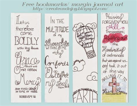 Create N Joy Free Bible Journaling Printables Free Bible Journaling Templates