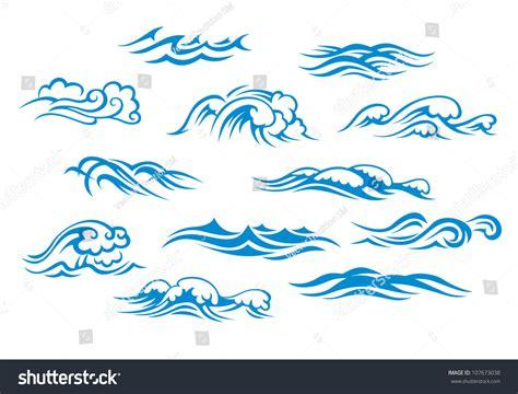 sea wave logos vector free stock vector sea waves set isolated on stock illustration