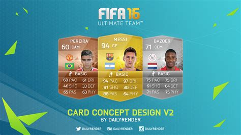 ultimate team card template fifa 16 ultimate team card concept v1 vex designs fifa