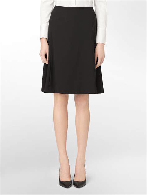 calvin klein black a line suit skirt in black lyst