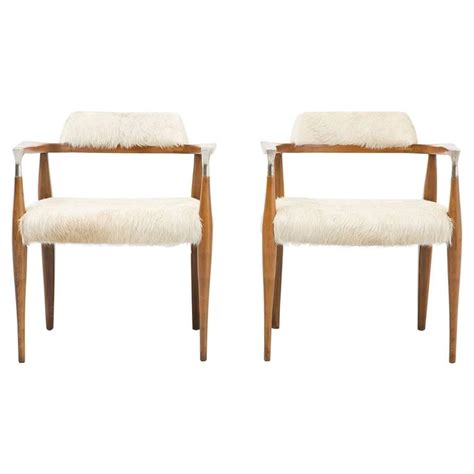 set of mid century modern accent chairs reupholstered in