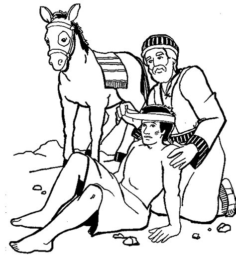 coloring page for good samaritan good samaritan coloring page