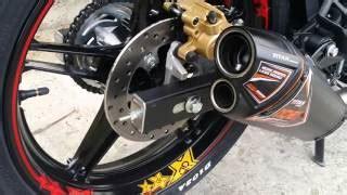 Knalpot Racing Akrapofic Gp M1 Untuk Yamaha Mx King 150cc test knalpot akrapovic gp m1 jupiter mx king