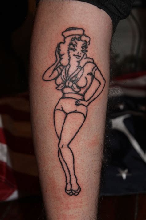 traditional pin up girl tattoo designs pin up by jorgealex on deviantart