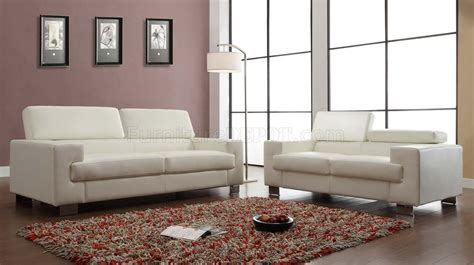 vernon sofa 9603wht in white bonded leather by homelegance