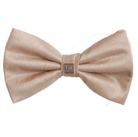 Champagne Bow Tie   Shantung Wedding Bow Tie