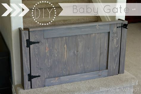 diy gate how to build a baby gate diy baby gate plans tinsel wheat