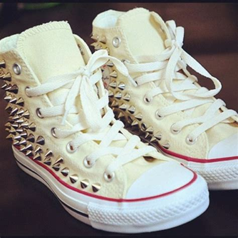 swag shoes shoes converse converse studs white fashion
