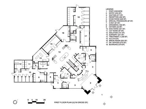 floor plan of a hospital 2009 hospital design s choice award entry western carolina regional animal hospital and