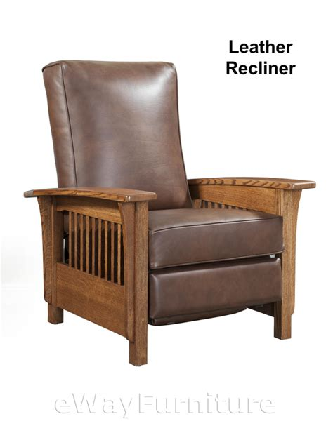 mission recliner chairs mission leather recliner