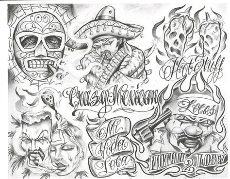 Chicano Tattoo Designs Tattoovoorbeeld Chicano Flash