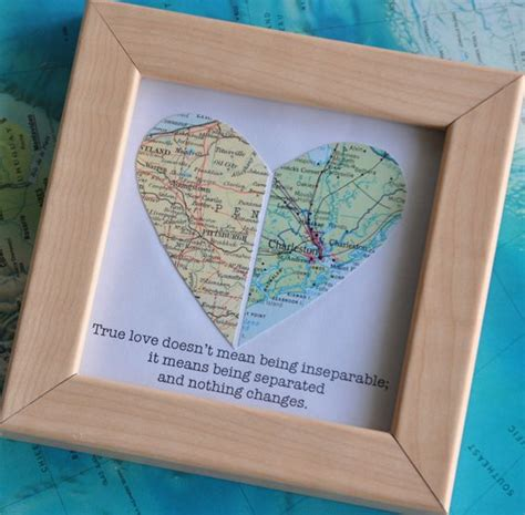 crhistmas ideas for my longterm boyfriend gift for boyfriend distance map with custom text quote best friends gift for best