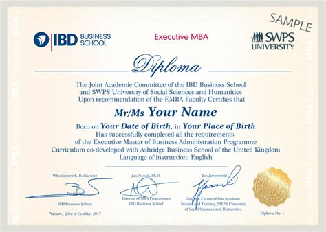 Mu Exec Mba by Dyplom Executive Mba Ibd Business School
