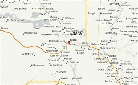 where is basra on a map basra location guide