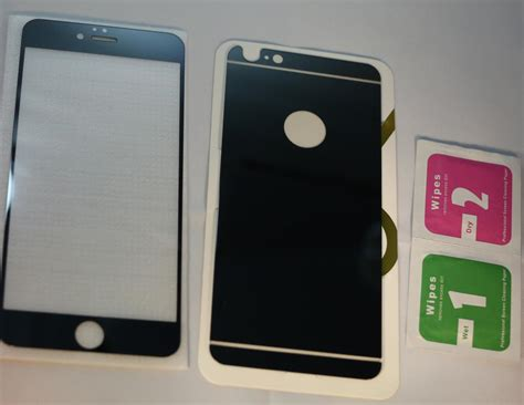 Tempered Iphone 6 Ready tempered glass mirror colored back and front glass