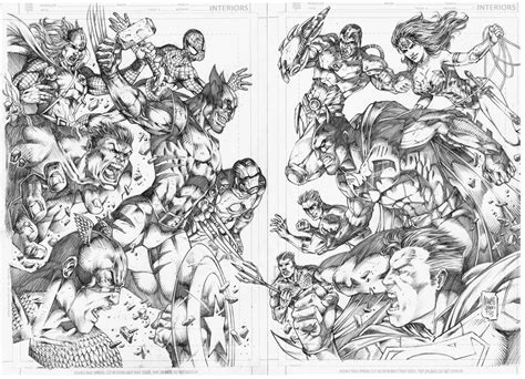 dc marvel coloring pages marvel vs dc by marcio abreu colouring pages