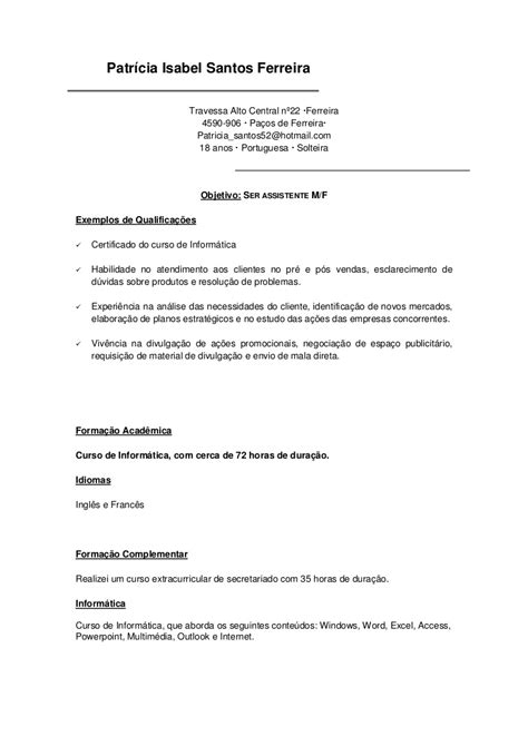 Modelo De Curriculum De Hosteleria modelo de curriculum pronto modelo de curriculum