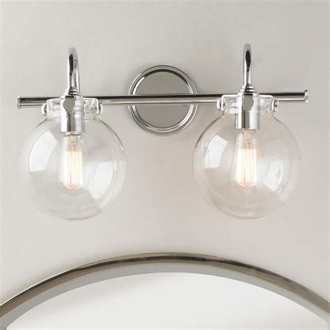 Bathroom Modern Light Fixtures by Retro Glass Globe Bath Light 2 Light In 2018 Great