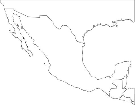 map of mexico printable free coloring map of mexico printable