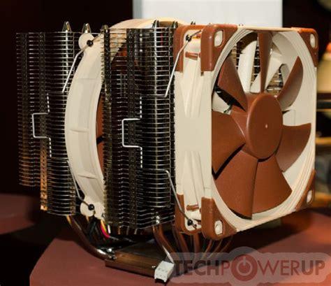 noctua 14 series 120mm fan noctua shows d type heatsink prototype built on nh d14