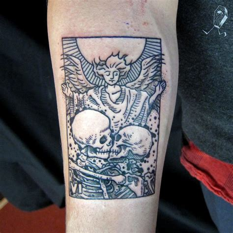tarot tattoo the tarot card by dedleg tattoonow