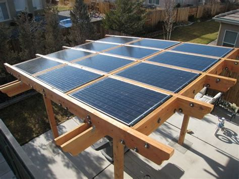 Backyard Solar Panels by Pergola For Solar Panels Neat Backyard Ideas