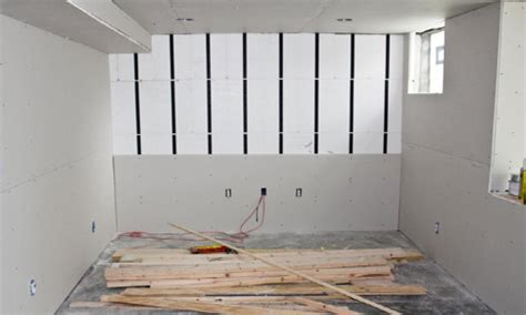 alternative to drywall in basement installing drywall insofast continuous insulation