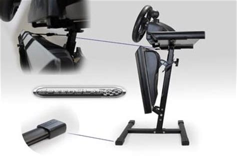 supporto volante ps3 speedblack evo steering wheel and pedal stand black