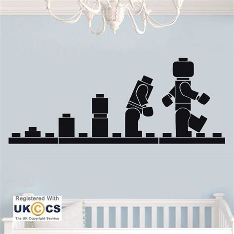 Boys Wall Art Stickers robot lego toys boys bedroom cool wall art stickers decals