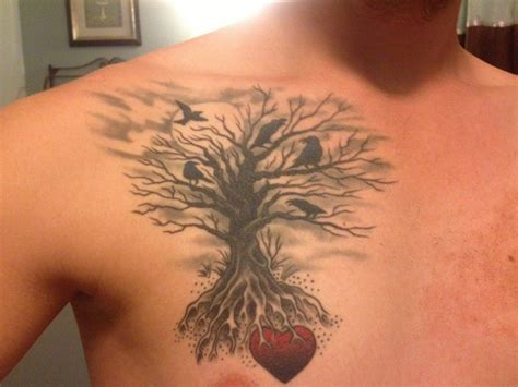 heart tree tattoo compelling tree tattoos tatring