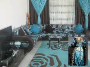 salon marocain moderne turquoise marron
