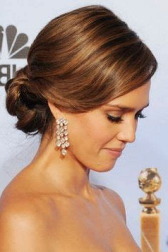bridal hairstyles oval face 9 staff favorite jessica alba updos elegant messy