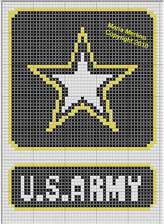 crochet pattern for army afghan u s army afghan chart graph hook part 1 pinterest