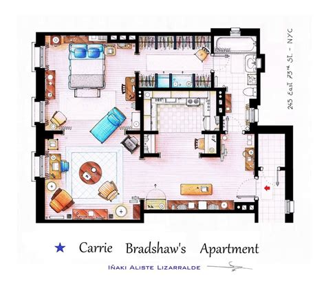 tv show apartment floor plans elaborate floor plans of iconic tv show residences movie