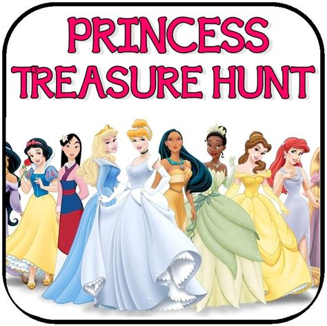 princess themed party games printable treasure hunt riddles clues and games