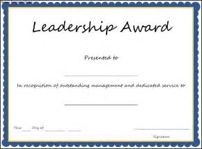 Free Templates For Awards leadership award certificate template sle templates