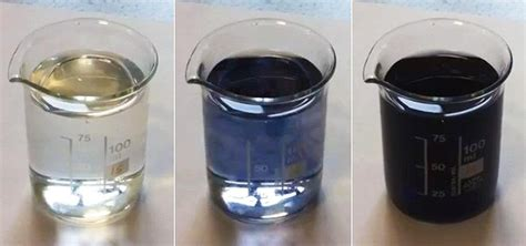 color of iodine classic chemistry colorize colorless liquids with quot black