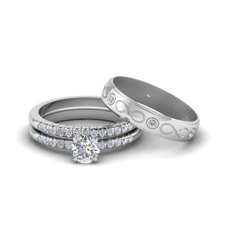 Wedding Rings For Sets by Engagement Rings Bridal Trio Wedding Ring Sets