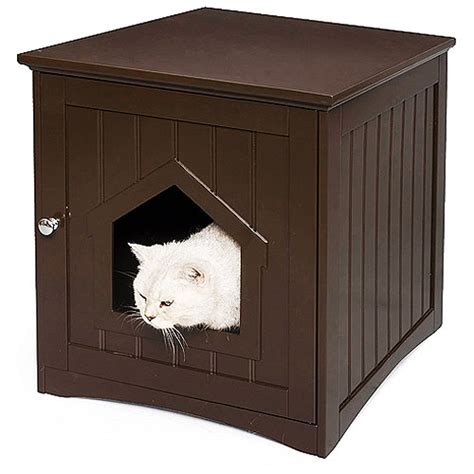 walmart cat house shop for this homezone kitty litter house in espresso and more cat litter boxes at