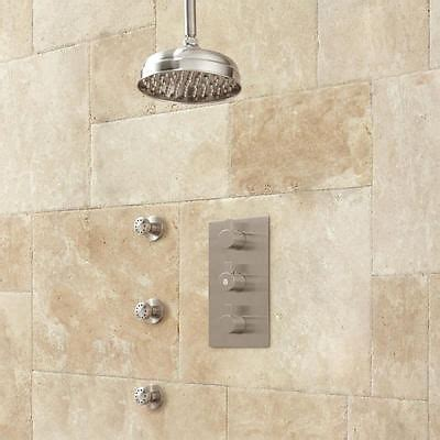 ceiling mount shower system rainfall shower hand shower