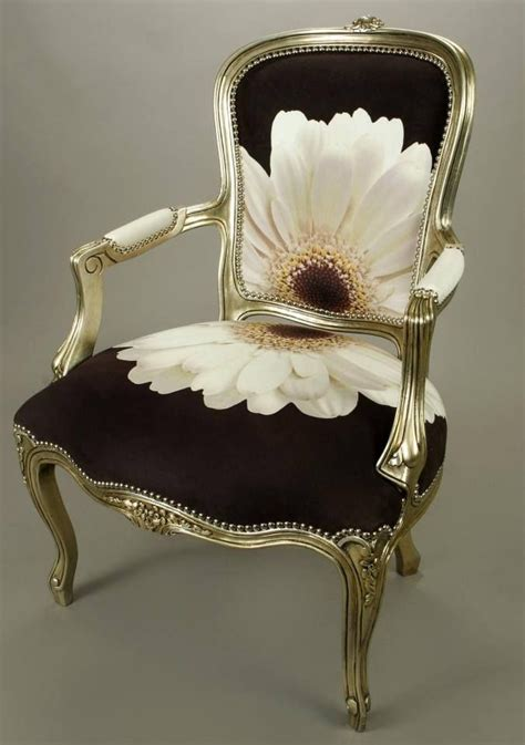 beautiful chairs beautiful chair in black fabric with white flower lovely